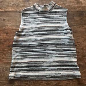St John Sport Sleeveless Knit Shimmer Shirt Sz M